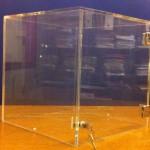 Urne pour élections en Plexiglas transparent